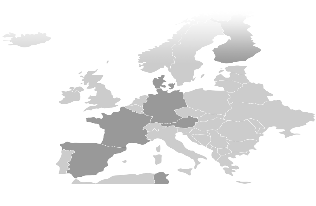 Map Europe juice market